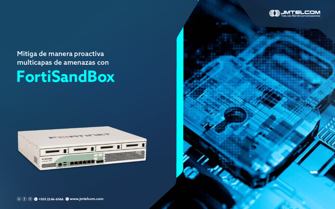 Mitiga de manera proactiva multicapas de amenazas con FortiSandBox
